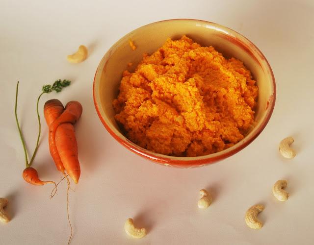 Purée de carottes crue