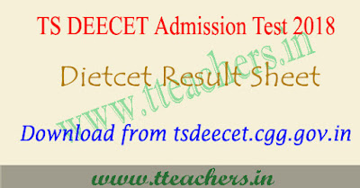 TS Deecet 2018 results Dietcet ttc rank cards Telangana manabadi