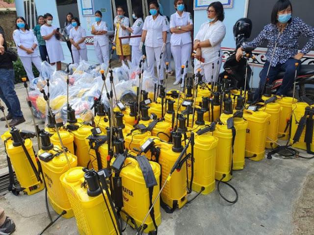 Cegah Penyebaran Corona, Seluruh Kecamatan di Simalungun Disemprot Disinfektan