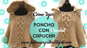 Cómo tejer poncho crochet  / Tutorial video
