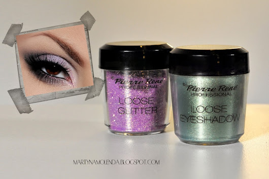 PIERRE RENÉ PROFESSIONAL LOOSE EYESHADOW & LOOSE GLITTER + MAKIJAŻ