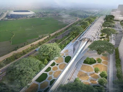 Desain stasiun kereta api cepat Gedebage
