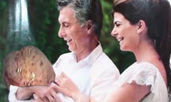 """Macri presenta a Benigno, su pólipo: """"Hace tiempo que queríamos darle a Antonia un hermanito que nos posicione bien en la campaña"""""""