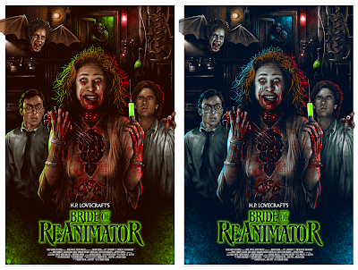 Bride of Re-Animator Screen Prints by Adam Rabalais x Mad Duck Posters