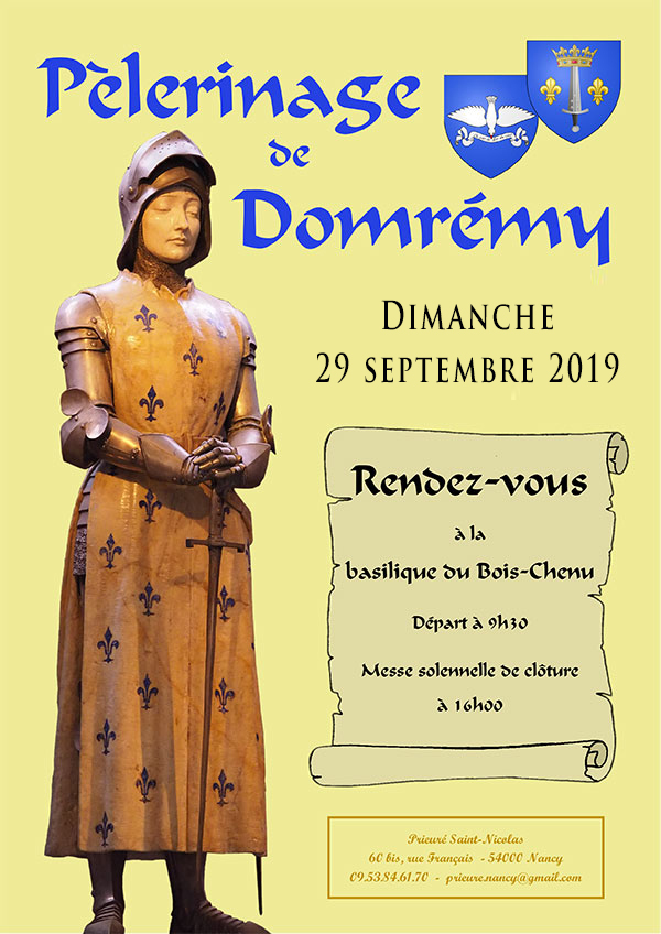 Pèlerinage de Domremy - dim. 29 septembre 2019 2019_pele_domremy