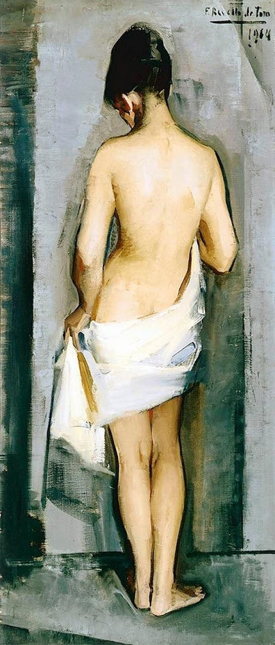 Figura Femenina (1964), Félix Revello de Toro, Revello de Toro, Pintores Malagueños, Retratos de Revello de Toro, Pintor español, Pintores de Málaga