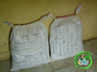 Kirim benih Padi TRISAKTI 20 Kg (4 Kantong) ke Karawang   dan 20 Kg (4 Kantong) ke Sulsel
