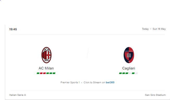 AC Milan vs Cagliari Preview and Prediction 2021