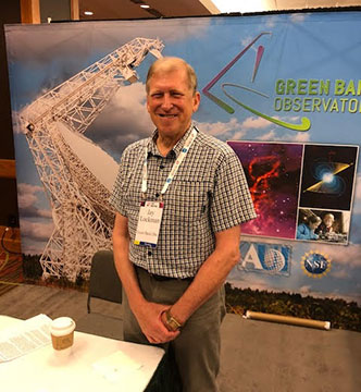 Dr. Jay Lockman of Green Bank Observatory, and The Great Courses Lecturer, at 232nd AAS meeting