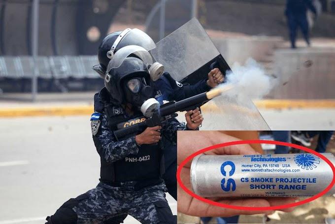 Bombas lacrimógenas: la ayuda humanitaria de EE.UU. para los hondureños que protestan.