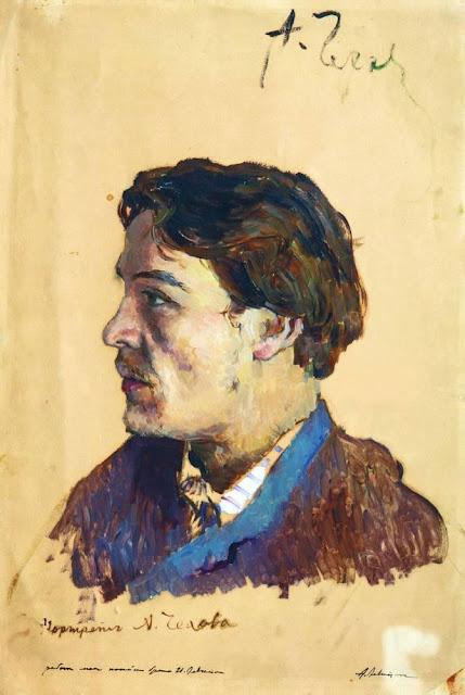 Исаак Ильич Левитан - Портрет писателя Антона Павловича Чехова. 1885-1886