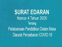 SE Mendikbud Nomor 4 Tahun 2020 Tentang Pelaksanaan Pendidikan Dalam Masa Darurat Penyebaran COVID-19