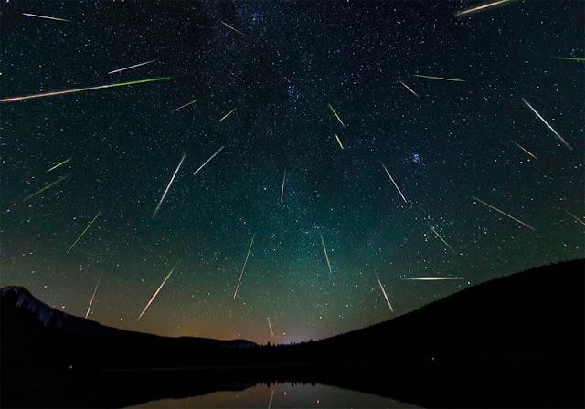 chuva de meteoros Perseidas por Ralph Crewe