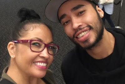 Tracy Marrow Jr with his mother Darlene Ortiz