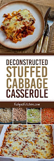 Deconstructed Stuffed Cabbage Casserole Recipe found on KalynsKitchen.com