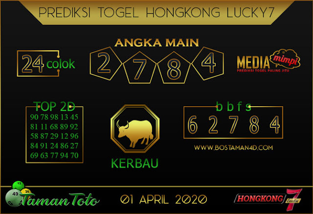 Prediksi Togel HONGKONG LUCKY 7 TAMAN TOTO 01 APRIL 2020