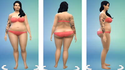 Sims 4 Overweight Female