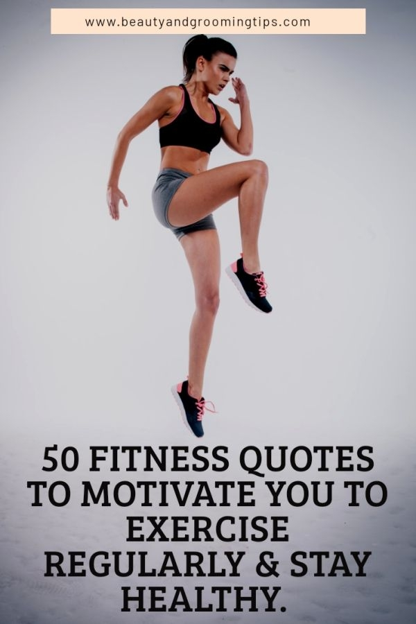 Fitness quotes to motivate you to exercise regularly - pic of a woman sprinting