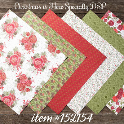 Christmas is Here Specialty DSP - Stampin' Up!'s Christmastime is Here Medley - item #152154