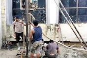Dankor Brimob Polri Beri Bantuan Pembuatan Sumur Bor dan Tangki Air di Masjid Agung Syuhada
