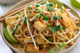 30 Minute Vegan Pad Thai #vegan #vegetarian #soup #breakfast #lunch