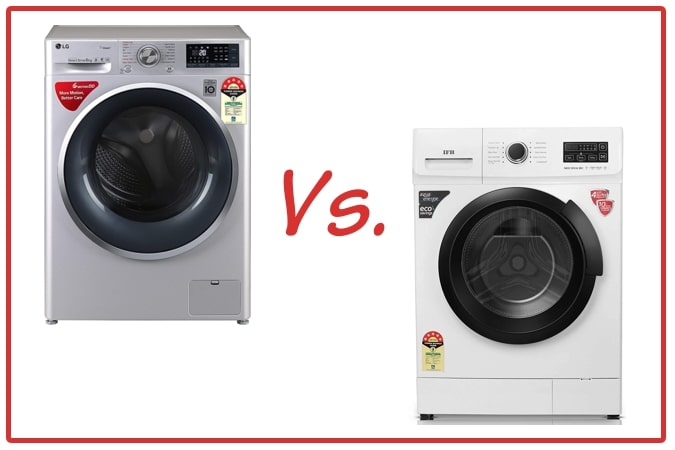 LG FHT1408ZWL (left) and IFB Neo Diva BX (right) Washing Machines.