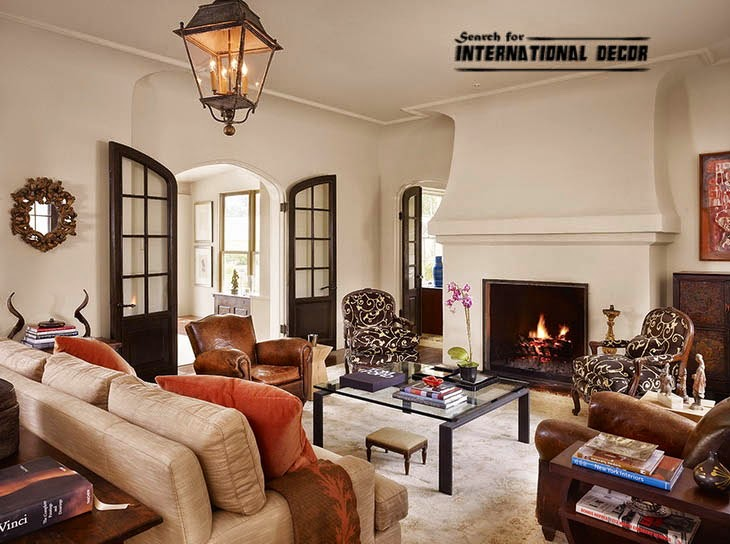 American style in the interior design and houses