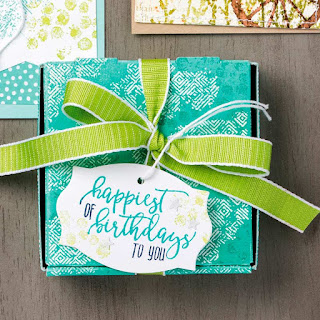 3 Mini Pizza Box Projects ~ Stampin' Up! Picture Perfect Birthday