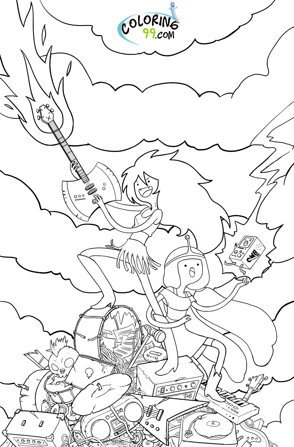 Adventure Time Coloring Pages | Team colors