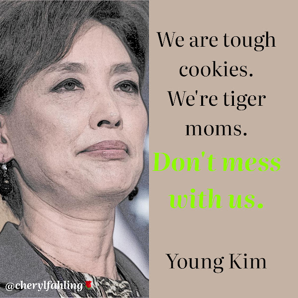 We are tough cookies. We're tiger moms. Don't mess with us. — Rep. Young Kim