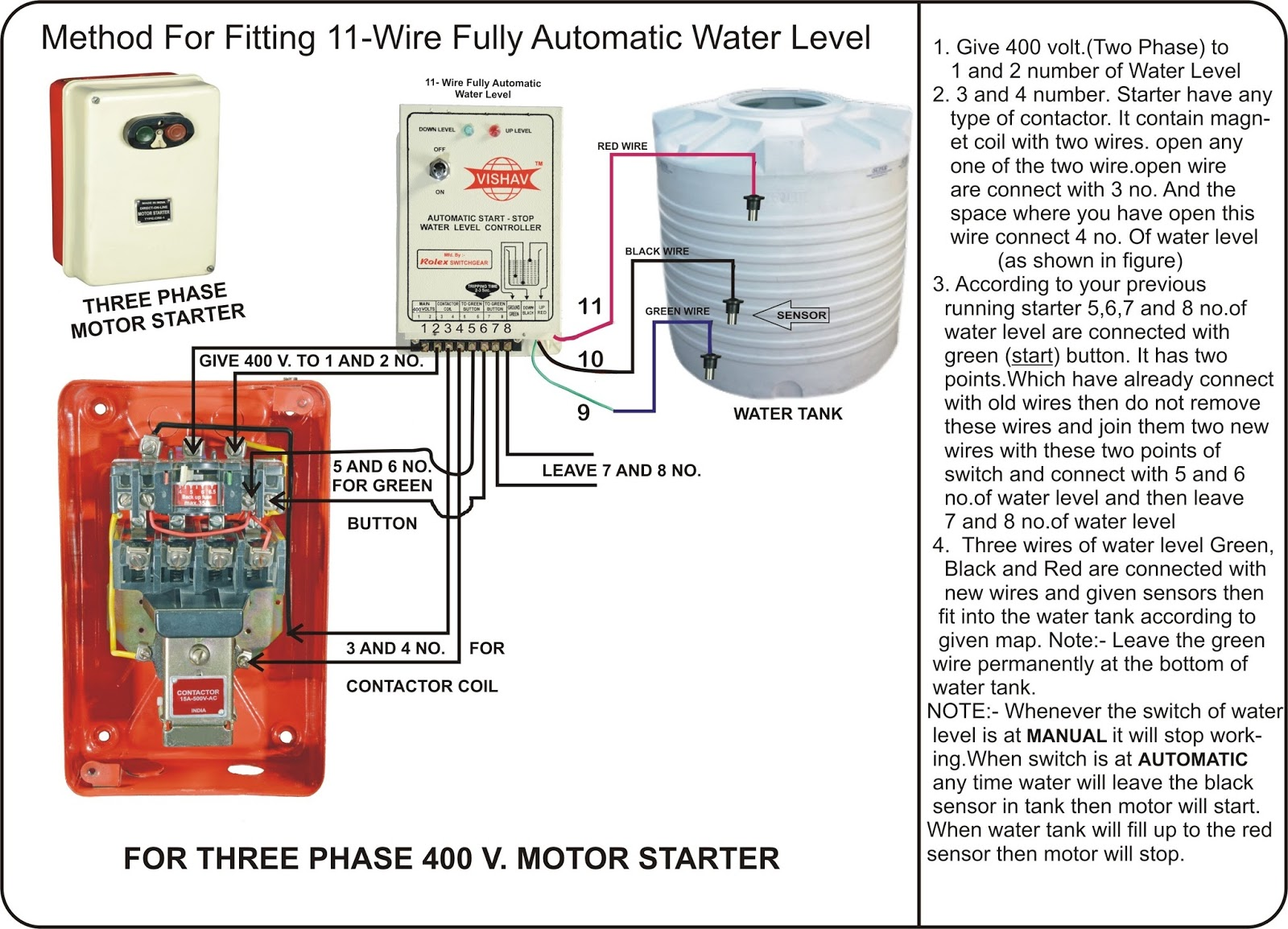 submersible water level controller  3