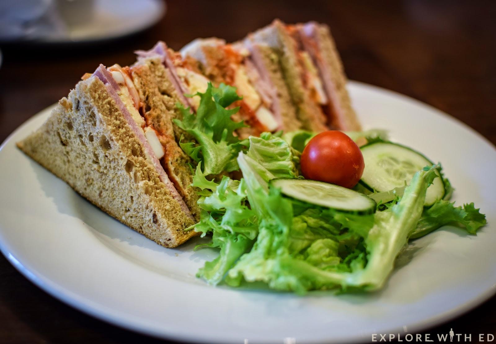Ham Egg Sandwich, Italian Coffee Shop, Newport