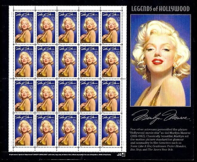 1995 32¢ Marilyn Monroe Sheet