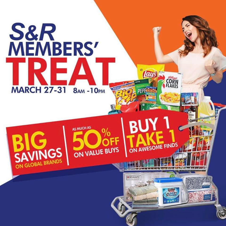 S&R Cagayan de Oro Will Be Having Its 6th Members' Treat on March 27-31, 2019