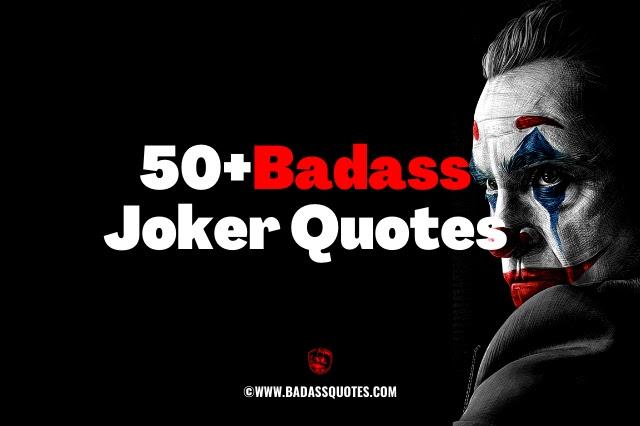 Badass Joker Quotes