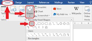 Cara Membuat Garis Menggunakan Shapes