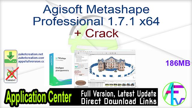 Agisoft Metashape Professional 1.7.1 x64 + Crack