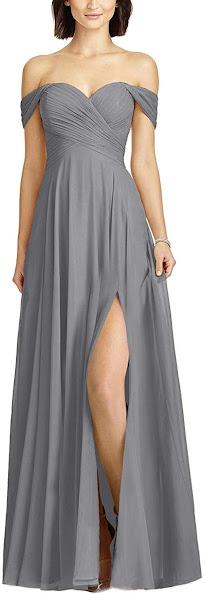 Steel Gray Chiffon Bridesmaid Dresses