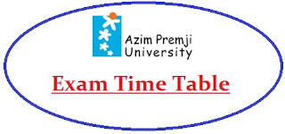 Azim Premji University Exam Date Sheet 2020