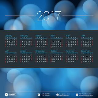 2017カレンダー無料テンプレート111
