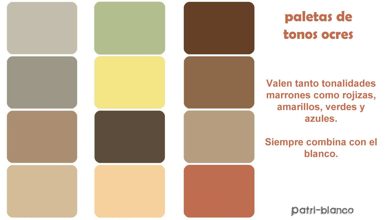 paleta de color ocre
