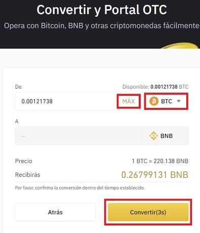 Comprar BNB Y BURGER SWAP Binance