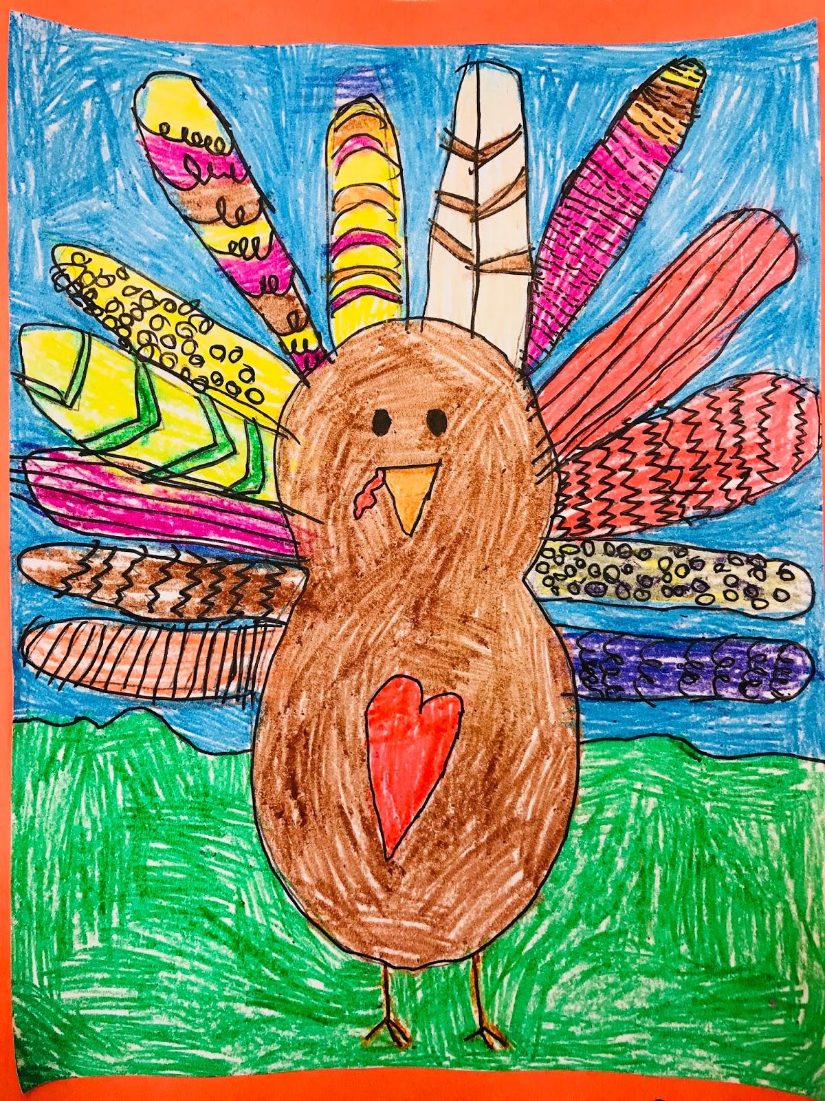 Calendar Art Ideas For Teachers : Howywood kindergarten turkey directed drawing