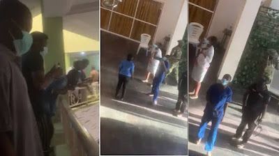 VIDEO: Dubai evacuees protest in Lagos as three test positive for COVID-19