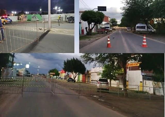 bloqueio das principais avenidas de Capim Grosso