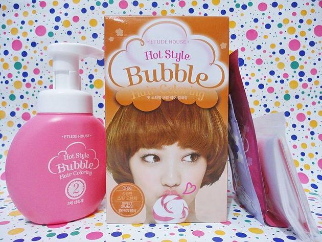 ruivo acobreado bubble hair coloring etude house