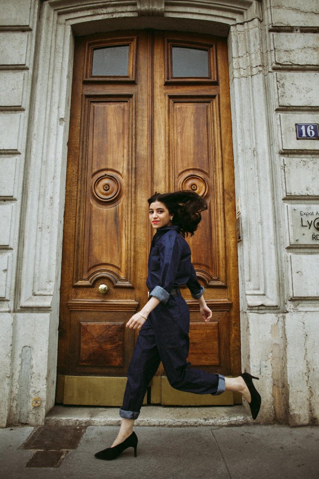combinaison jean, combinaison denim, amenidaily, ameni daily, modeuse, blogueuse mode, le style de la parisienne, la redoute, la redoute collections, how to be parisian