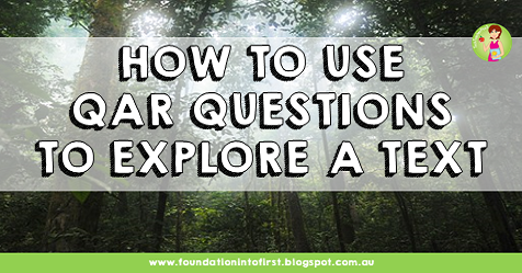 how to use qar questions to explore a written text using reading comprehension strategies with question and response activities in English language arts