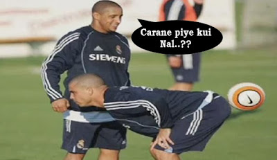 pemain sepak bola lucu banget