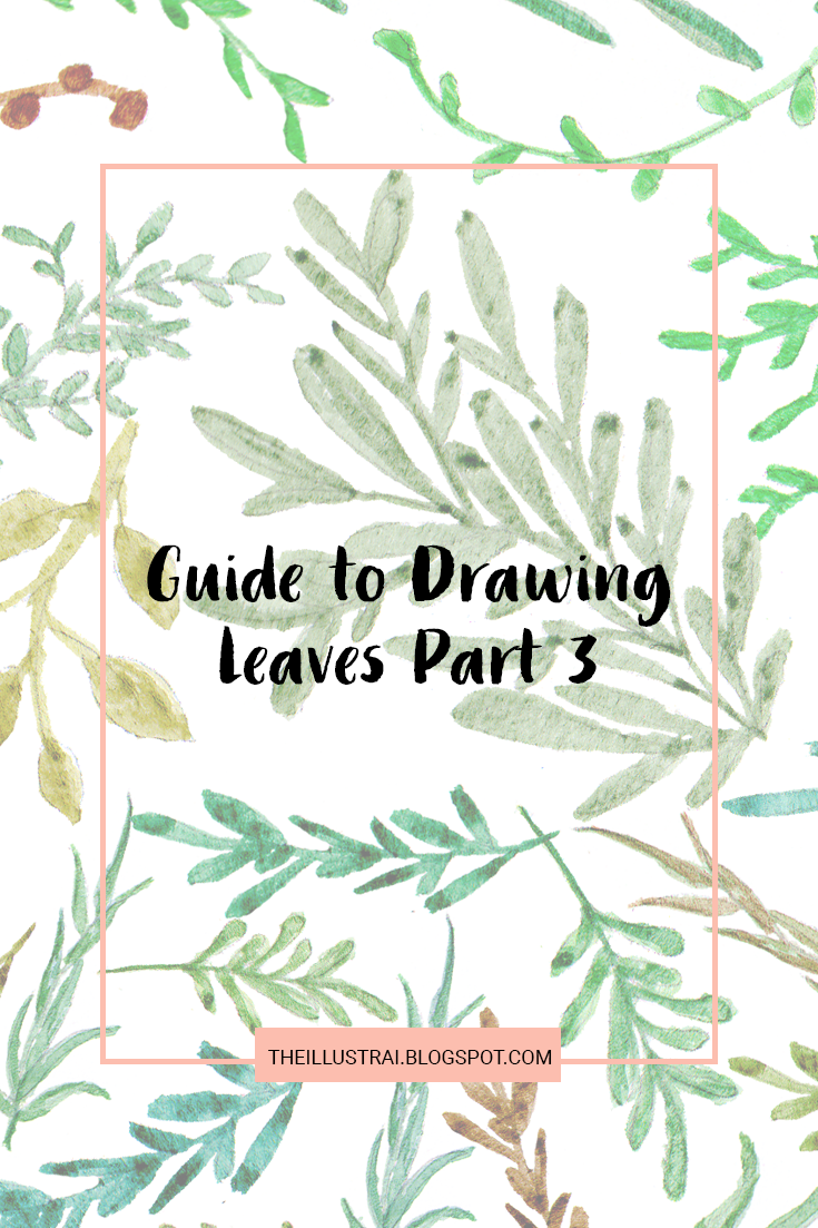 Part three of my guide to drawing leaves series. Includes a free download of the full Guide to Drawing Leaves ebook